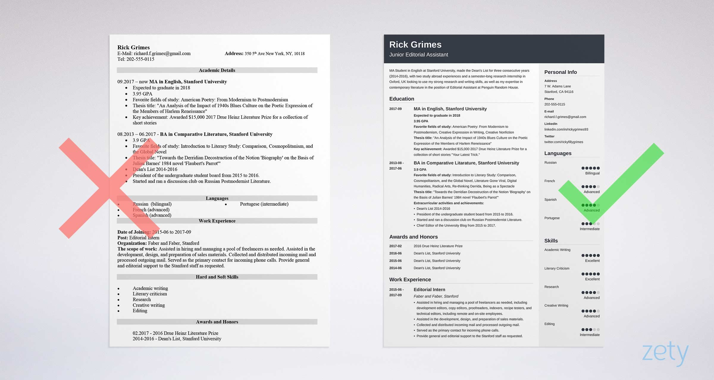 student resume templates